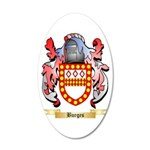 Burges 20x12 Oval Wall Decal