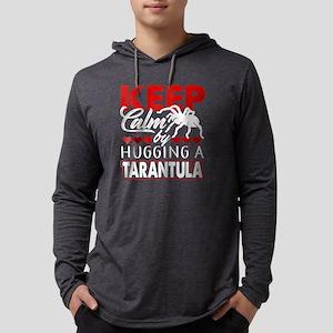 KEEP CALM BY HUGGING A TARANTULA Mens Hooded Shirt