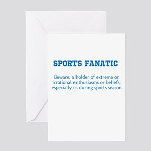 Sports Fanatic Greeting Card