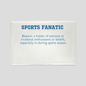 Sports Fanatic Rectangle Magnet