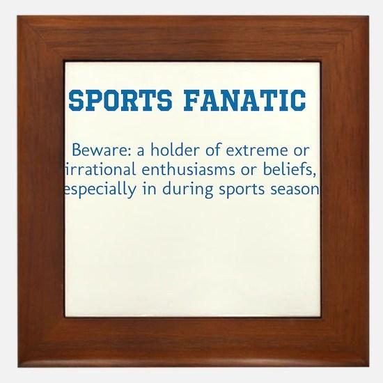 Sports Fanatic Framed Tile