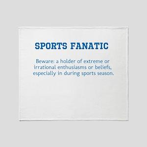 Sports Fanatic Throw Blanket