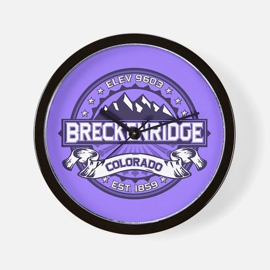 Breckenridge Purple Wall Clock