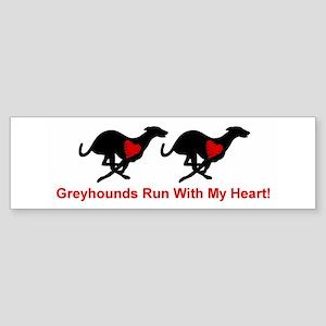 Greyhound Sticker (Bumper) Hearthound/Txt