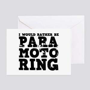 'Paramotoring' Greeting Card
