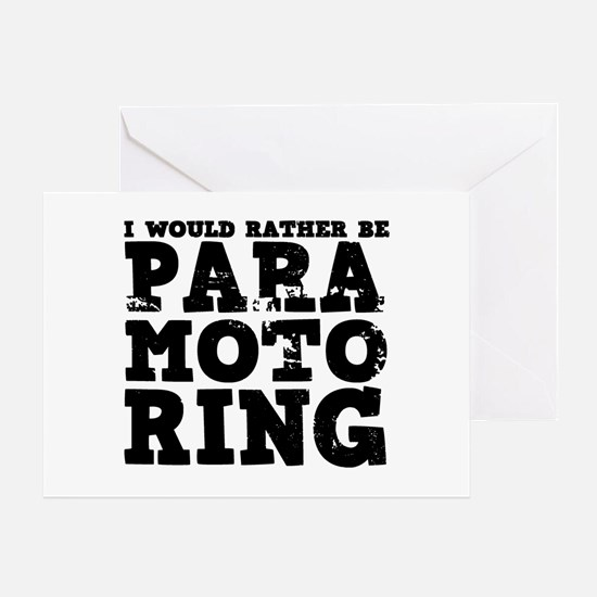 'Paramotoring' Greeting Card