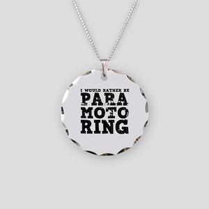 'Paramotoring' Necklace Circle Charm