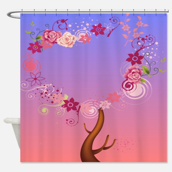 love tree Cat Forsley Designs Shower Curtain