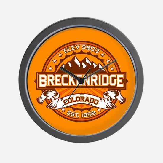 Breckenridge Tangerine Wall Clock