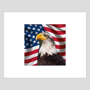 USA flag with bald eagle Posters