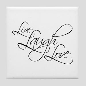 Live, Laugh, Love Tile Coaster