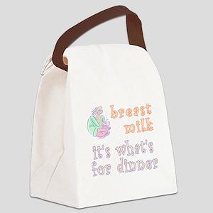 breast milk...dinner - Canvas Lunch Bag