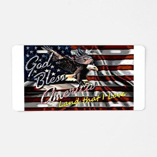 Patriotic T-shirt Aluminum License Plate