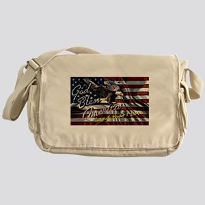 Patriotic T-shirt Messenger Bag