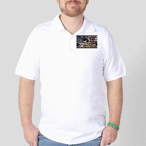Patriotic T-shirt Golf Shirt