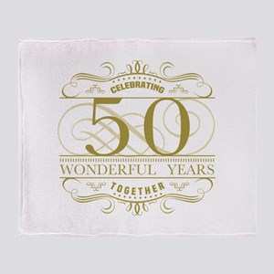 Celebrating 50th Anniversary Throw Blanket