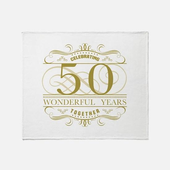Celebrating 50th Anniversary Throw Blanket