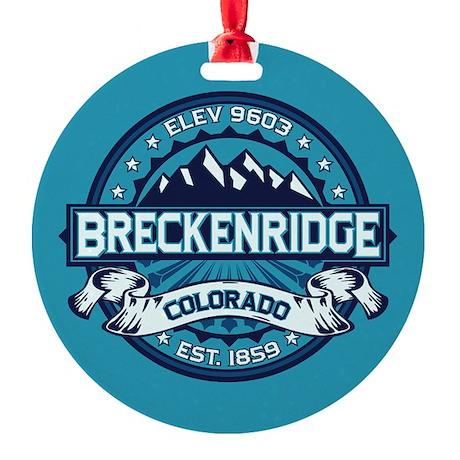Breckenridge Ice Round Ornament