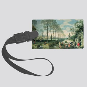 on canvas) - Large Luggage Tag