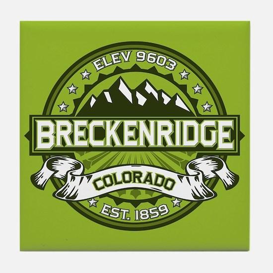 Breckenridge Green Tile Coaster