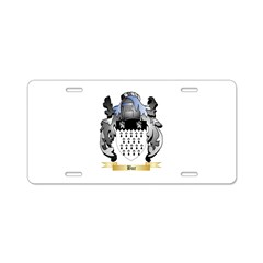 Bur Aluminum License Plate