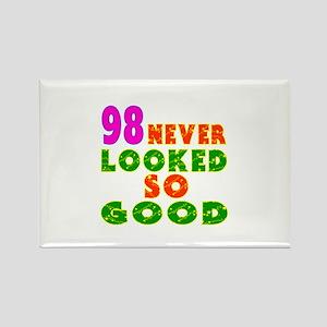 98 Birthday Designs Rectangle Magnet
