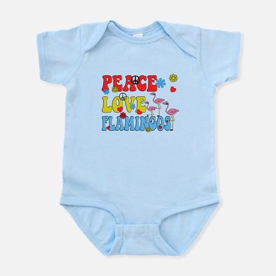 PEACE LOVE FLAMINGOS Body Suit
