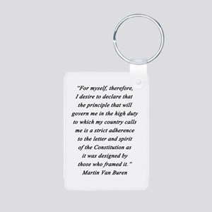 Van Buren - For Myself Aluminum Photo Keychain