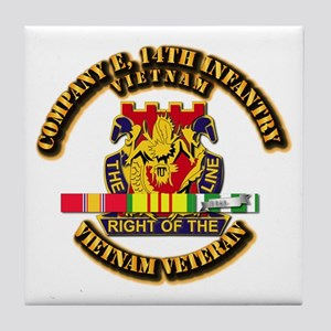 Army - Company E, 14th Infantry w SVC Ribbons Tile