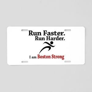Run Faster Run Harder Aluminum License Plate