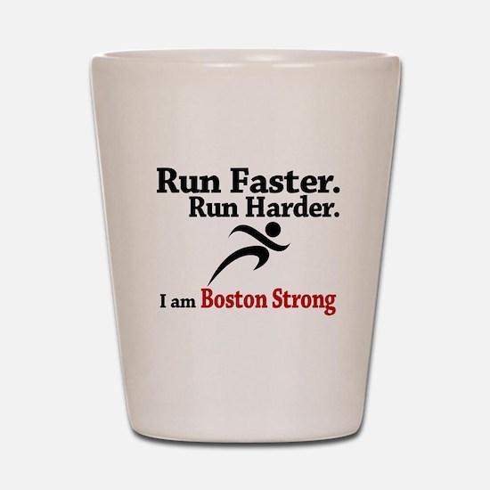 Run Faster Run Harder Shot Glass