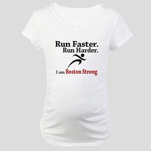 Run Faster Run Harder Maternity T-Shirt