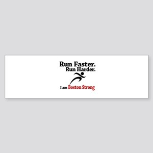 Run Faster Run Harder Sticker (Bumper)