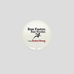 Run Faster Run Harder Mini Button