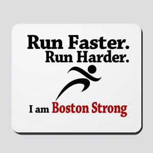 Run Faster Run Harder Mousepad