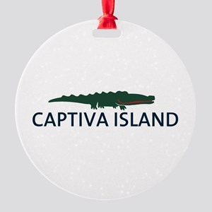 Captiva Island - Alligator Design. Round Ornament