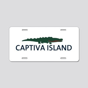 Captiva Island - Alligator Design. Aluminum Licens