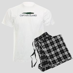 Captiva Island - Alligator Design. Men's Light Paj