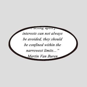 Van Buren - Private Interests Patch