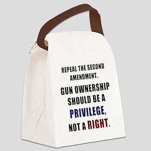 Repeal the second amendment Canvas Lunch Bag