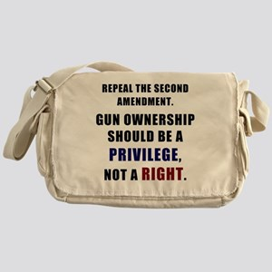 Repeal the second amendment Messenger Bag