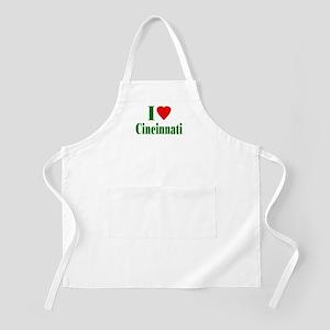 I Love Cincinnati BBQ Apron