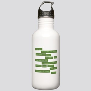 John 3:16 - Classic Green Water Bottle