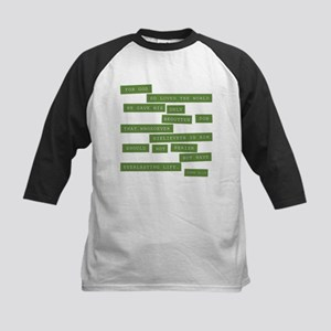 John 3:16 - Classic Green Baseball Jersey