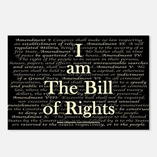 I am The Bill of Rights Postcards (Package of 8)
