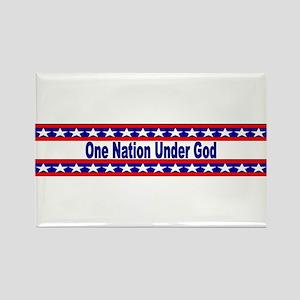 One Nation stripes Rectangle Magnet