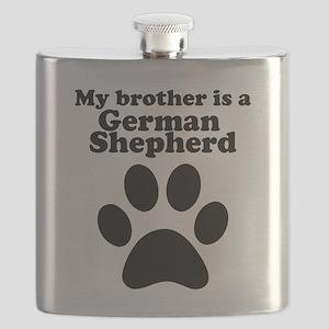 My Brother Is A German Shepherd Flask