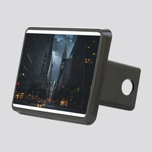 New York Chrysler building night Hitch Cover