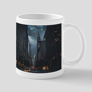 New York Chrysler building night Mug