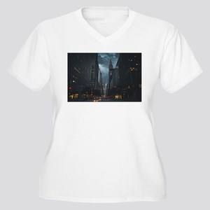 New York Chrysler building night Plus Size T-Shirt